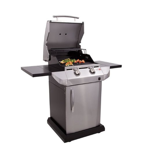 Char-Broil TRU Infrared Urban Gas Grill with Folding Side Shelves ...