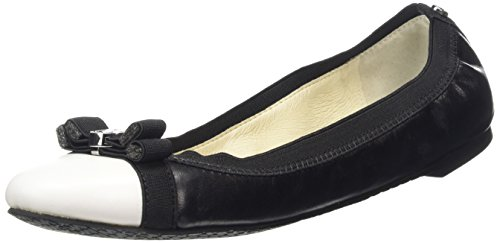 MICHAEL KORS - Dixie Ballet, Ballerina da donna, bianco (black/optic whit), 38.5
