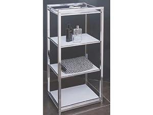 Badregal Metallregal Chrom 4 Böden Plexiglas weiß SALE   Kundenbewertung und weitere Informationen