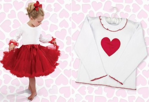 Bearington Bears Valentine Shirt and Tutu Skirt Set-3T