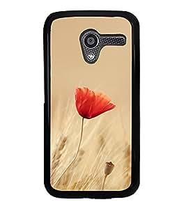 Orange Flower 2D Hard Polycarbonate Designer Back Case Cover for Motorola Moto X :: Motorola Moto XT1052 XT1058 XT1053 XT1056 XT1060 XT1055