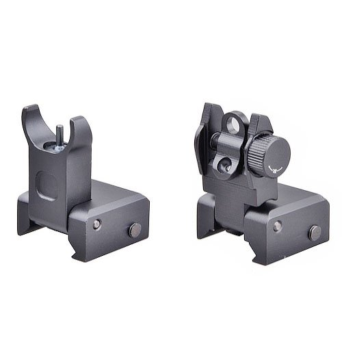 Lowest Price! Trinity Force Flip Up Front and Rear Back up Iron Sight