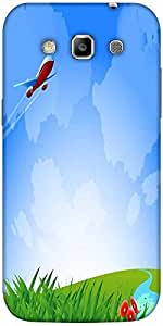 Snoogg an airplane in the sky vecto Hard Back Case Cover Shield For Samsung Galaxy Grand Quattro Win I8550