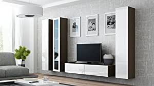 Seattle 4g modern wall unit entertainment for Living room with 65 inch tv