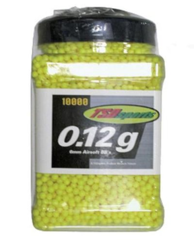 TSD Sports 10,000 ct. Jar Plastic Yellow Airsoft BBs (6mm, 0.12g)