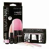 sensationail by nailene starter kit in pink chiffon