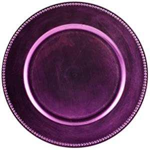 koyal wholesale charger plates lavender set of 24