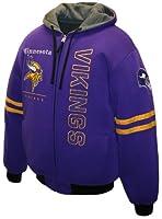 NFL Mens Minnesota Vikings Dual Edge Reversible Hoodie Full-Zip Sweatshirt by MTC Marketing, Inc