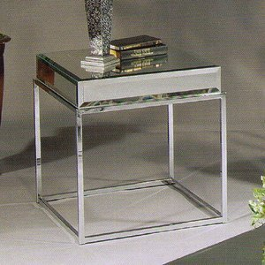 Image of Bassett Mirror Co. Encore Mirror & Chrome End Table - T1494-250 (T1494-250)