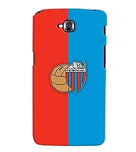 TOUCHNER (TN) Red Blue Logo Back Case Cover for LG GPro Lite::LG G Pro Lite Dual D686