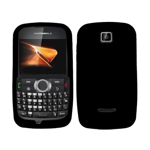 For Boost Mobil Motorola Theory Wx430 Accessory - Black Silicon Skin Soft Case Proctor Cover