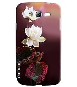 Omnam White Rose Printed Designer Back Cover Case For Samsung Galaxy Grand Grand (i9082)