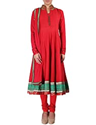 Kalki Fashion Red Anarkali Suit Featuring In Kundan And Resham Embroidery Only On Kalki