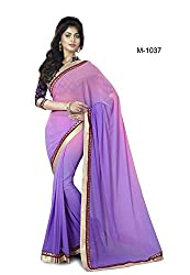 Sk Creation Amazing Purple lace Embroidered Party Wear Saree