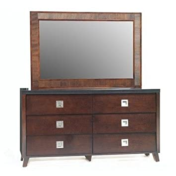 angelo:HOME Marlowe Dresser, Black and Chocolate Brown