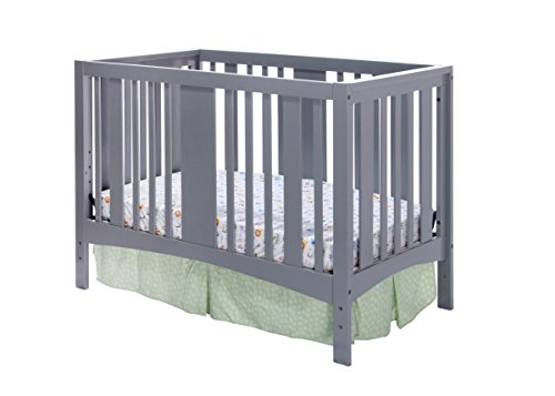 Dream On Me Havana 5 in 1 Convertible Crib, Grey