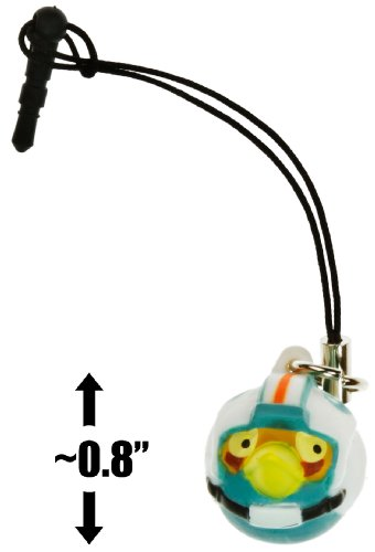 "Rebel Pilot Bird ~0.8"" Angry Birds Star Wars Mini-Figure Phone Dangler Series #1"