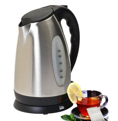 Elite Platinum EKT-7050 Maxi-Matic 10 Cup Cordless Water Kettle, Stainless Steel (10 Cup Electric Tea Kettle compare prices)