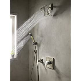 pfister 016 2dfk kenzo hand shower kit brushed nickel showerheads ha. Black Bedroom Furniture Sets. Home Design Ideas