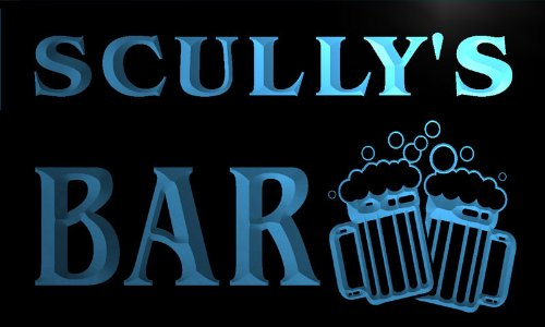 w003796-b-scullys-nom-accueil-bar-pub-beer-mugs-cheers-neon-sign-biere-enseigne-lumineuse