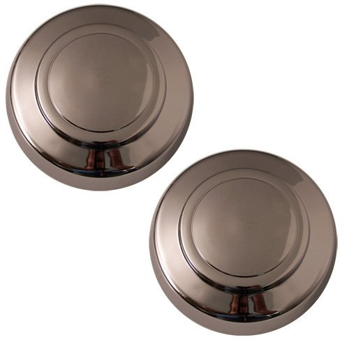Set of 2 Replacement Aftermarket Front Center Caps Hub Cover Fits 16x7 Inch Wheel - Part Number: IWCC3140/F (Front Center Caps 2000 Ford F250 compare prices)