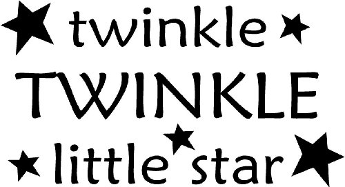 Twinkle twinkle little star wall art wall sayings