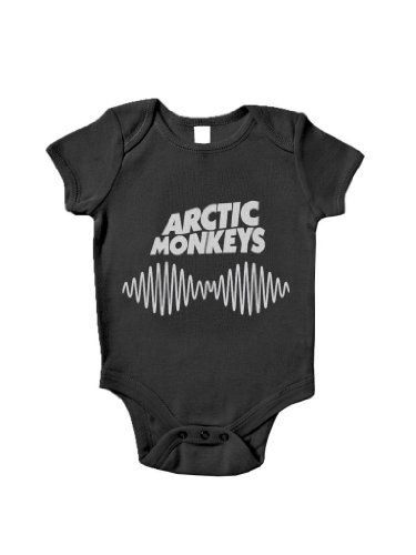 Blue Ivory Arctic Monkeys Sound Wave Baby Grow Rock Band Music front-1029812