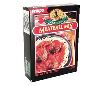 Amazon.com : Tempo Italian Meat Ball Mix, 12-Count Box of