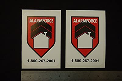 Exceptional Trendy Force security Surveillance Stickers Signs Decal Property Home CCTV Alarm 2pcs