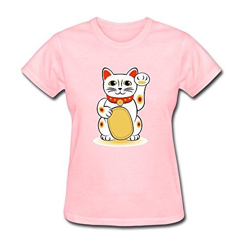 Pcy Women'S Make Your Own Plutus Cat Unique T Shirt Xl Pink