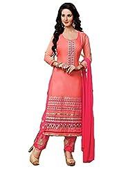 khodiyar fashion pink color salwar suit