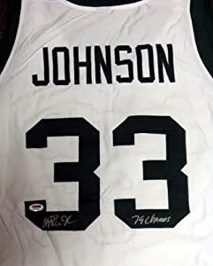 Magic Johnson Autographed Hand Signed Michigan State Jersey 79 Champs PSA DNA by Hall+of+Fame+Memorabilia