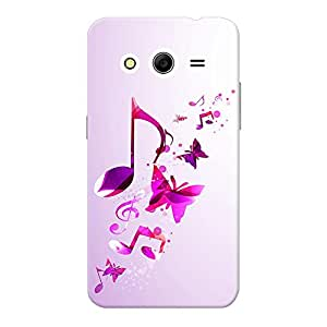 INKIF Music and Butterflies Abstarct Designer Case Printed Mobile Back Cover for Samsung Galaxy Core Prime (Pink )