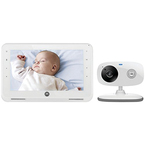 "Motorola MBP867 7"" LCD Digital Video Baby Monitor (White) - 1"