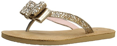 kate spade new york Women's Icarda Flip Flop, Gold Glitter/Gold Metallic Nappa, 7 M US (Inc Bow Flip Flops compare prices)