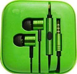 Adiva Metal Earphones For Xiomi Mi Pad Stereo Earphone Wired Headphones (GREEN)