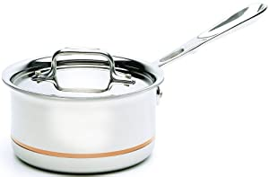 All-Clad 6201.5 SS Copper Core 5-Ply Bonded Dishwasher Safe  Saucepan Cookware, 1.5-Quart, Silver
