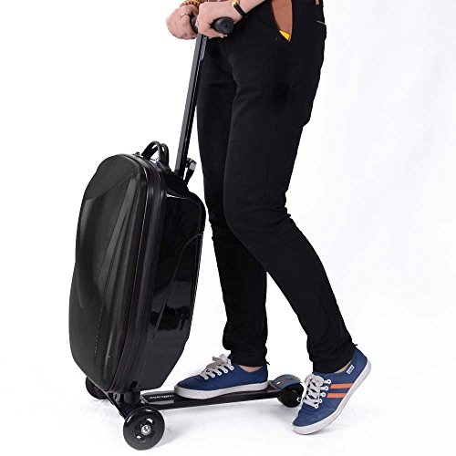 Suitcase Luggage Scooter with 3 Strong Wheels