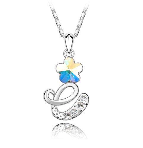 Boxingcat Fine Jewelry Swarovski Style Clear Austrian Crystal Pendant Necklaces Bgca2966 front-341126