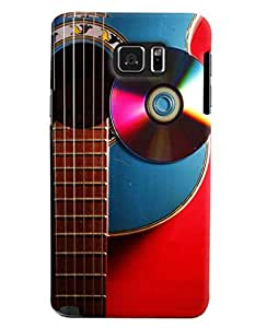 Blue Throat Guitar With Cd Hard Plastic Printed Back Cover/Case For Samsung Galaxy Note 5