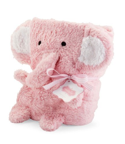 Mud Pie Blanket Buddies Pink Elephant - 1