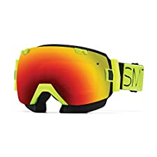 Smith SNMB I/OX Goggle Acid Block with Red Sol-X Mirror Lens plus Bonus Blue Sensor Mirror Lens