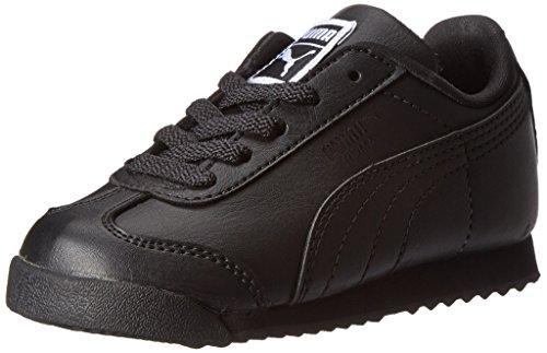 Puma Roma Basic Kids Sneaker (Toddler/Little Kid/Big Kid),Black/Black,1 M Us Little Kid front-942707
