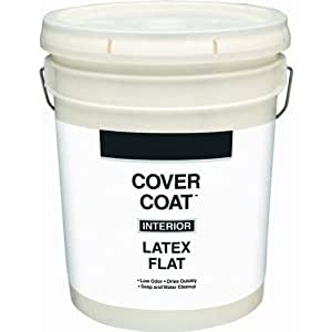 valspar cover coat contractor grade interior latex flat paint dover white 5 gallon house paint