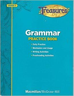 treasures grammar practice book grade 2 macmillan 9780022065317 books. Black Bedroom Furniture Sets. Home Design Ideas