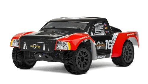 Mad Gear 1/16 Mini Electric Short Course RC Truck 2.4ghz Ready to Run (Red)