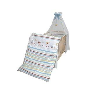 roba 1492 V55 - Kinderbettgarnitur Butterfly bestehend aus Bettwäsche für Kissen 40 x 60 cm, Decken 100 x 135 cm, Nestchen und Himmel