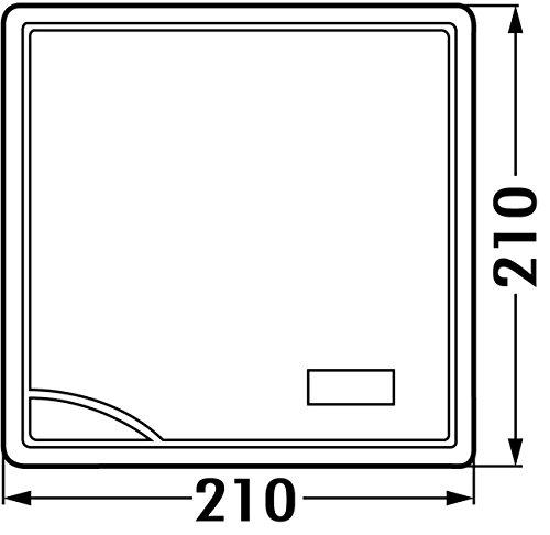 Balance de cuisine en inox max. 5 kg balance numérique 21 x 21 *32159 einbauwaage cm
