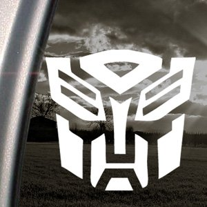 Decalcomania con Logo Transformers-Autobot, per finestra