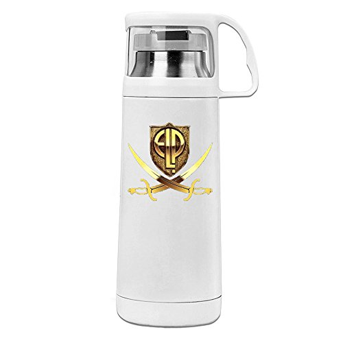 MeiXue Logo Emerson Lake And Palmer Vacuum Cup Water Bottle White